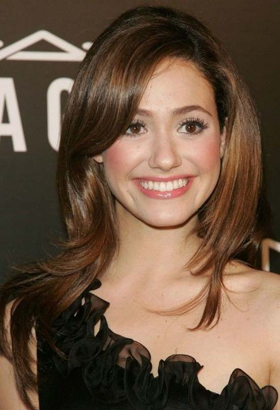 Emmy-Rossum Short Brown Hairstyles