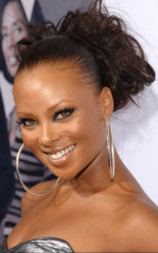 Eva Marcille long updo hairstyle