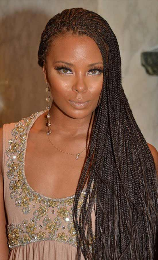 Eva Marcille with micro braid