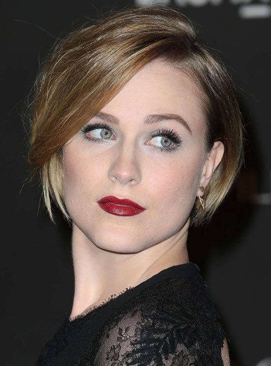 Evan Rachel Short Straight Hairstyles