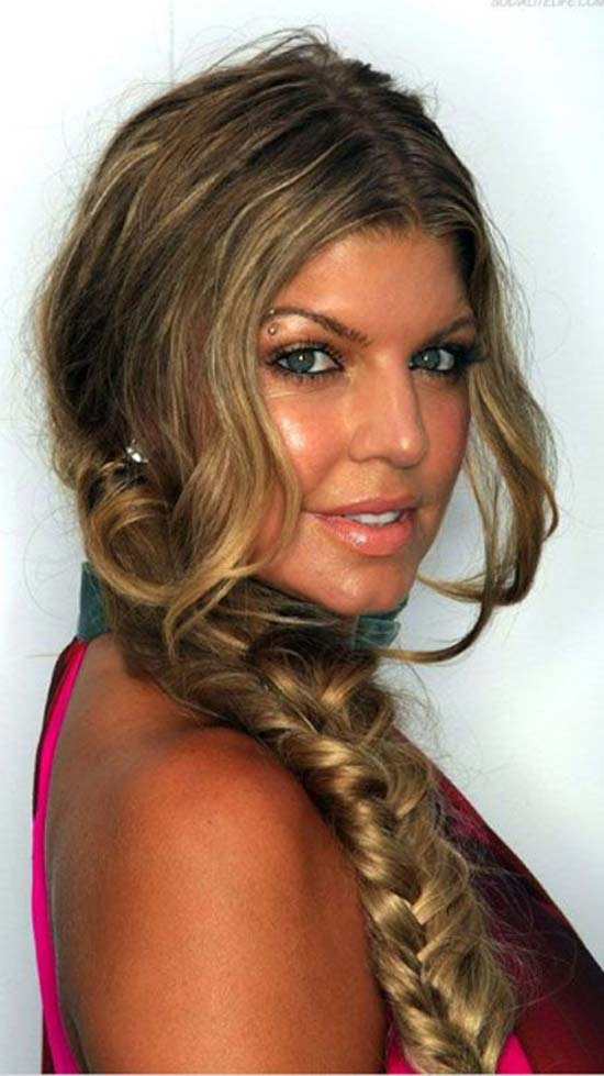 Fergie Boho fishtail Hair