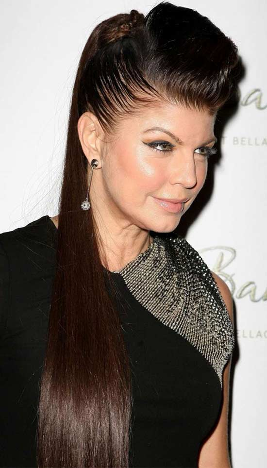 Fergie Edgy Long Hairstyles
