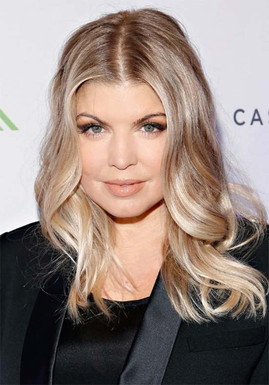 Fergie Medium-Hairstyle