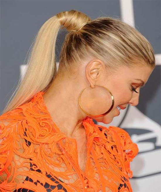 Fergie Ponytail Hairstyle for Long Hair