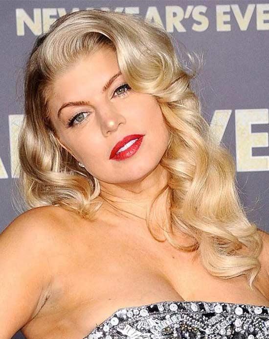 Fergie Retro glamorous hairstyle