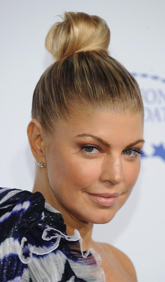 Fergie Top Knot Haircut