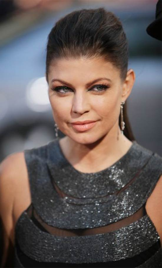 Fergie high loose sexy ponytail hairstyle