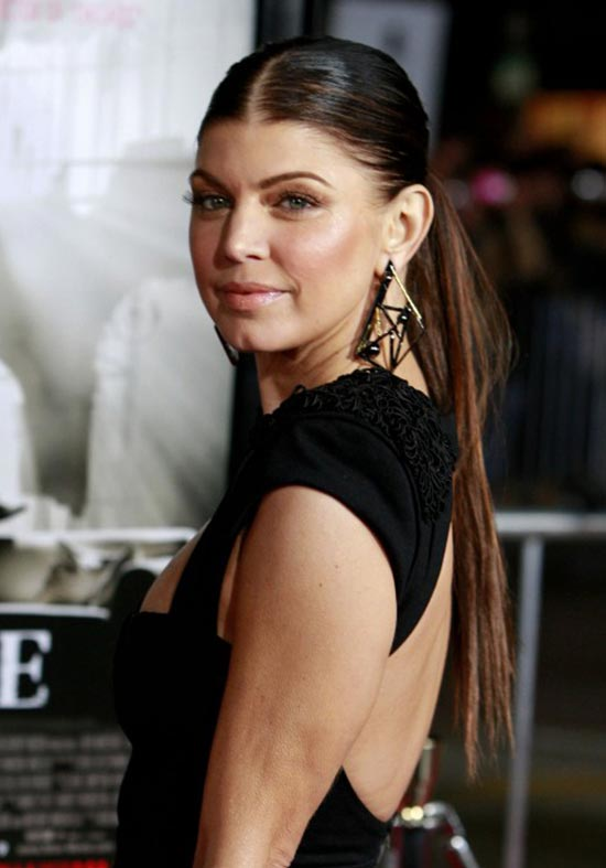 Fergie sexy Sleek ponytail hairstyle