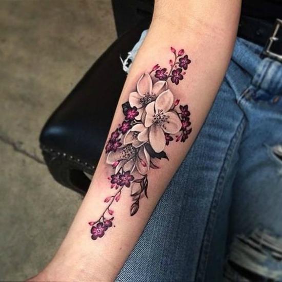 Flower arm tattoo Design