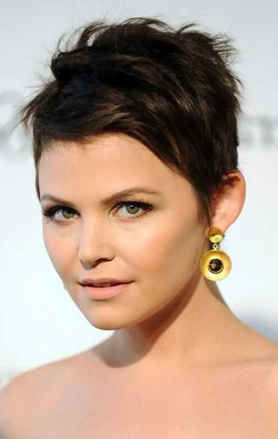 Ginnifer Goodwin Dark Pixie Cut