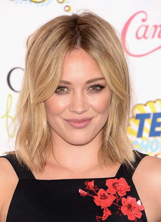 Hilary Duff Edgy Hairstyle