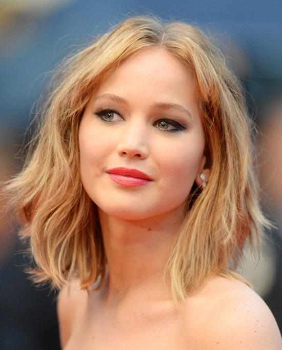 Jennifer-Lawrence Bobbed Haircuts and Long Bob Styles