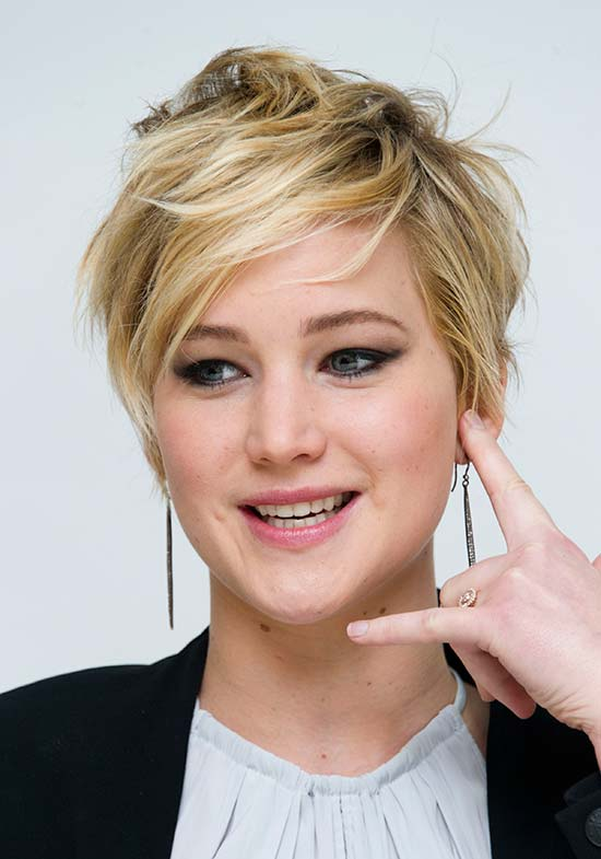 Jennifer Lawrence Edgy Hairstyle
