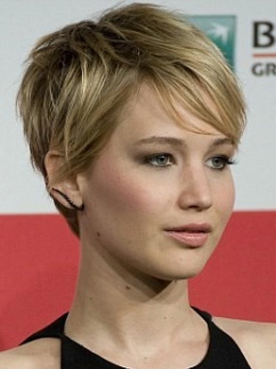 Jennifer-Lawrence Short Brown Hairstyles