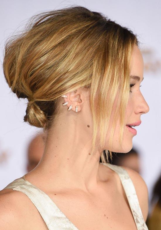 Jennifer Lawrence Updos for Short Hair