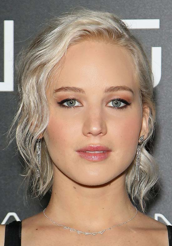 Jennifer Lawrence With Platinum Blond Hair