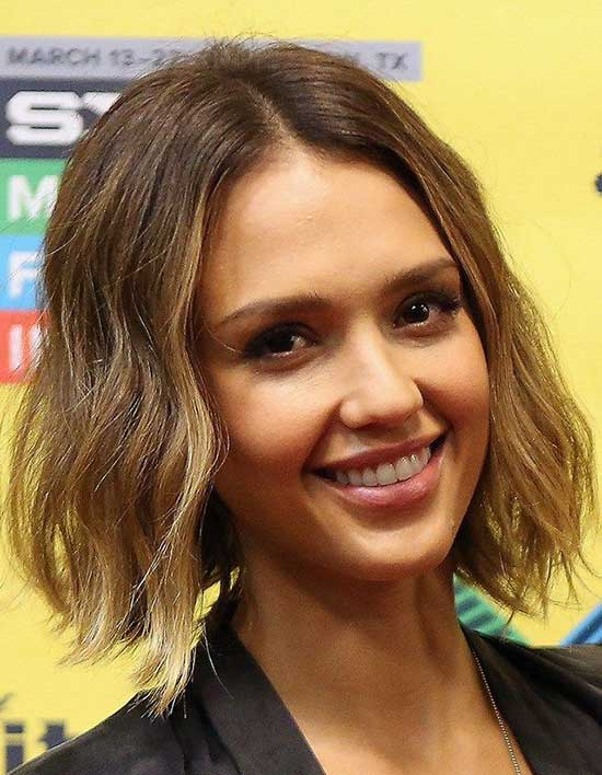 Jessica-Alba Short Brown Hairstyles