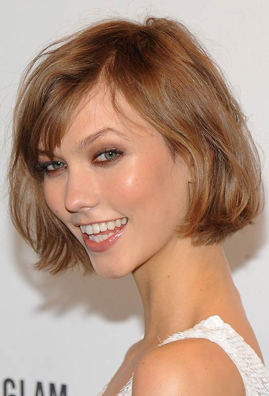 Karlie-Kloss Short Brown Hairstyles