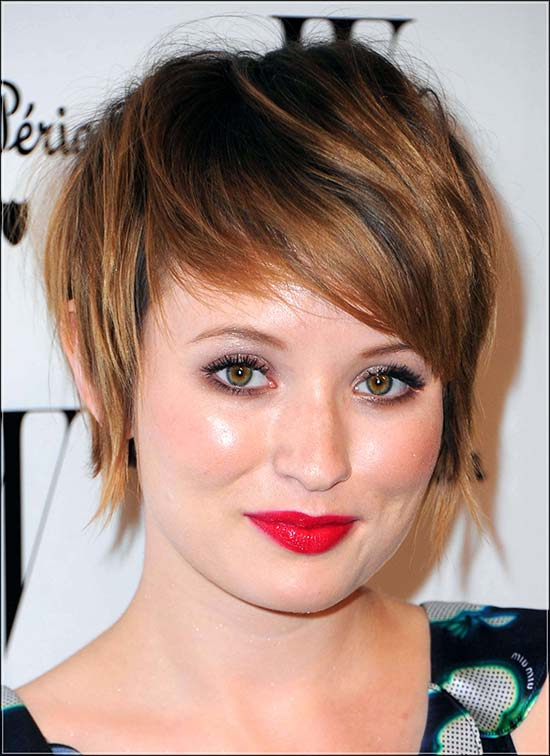 Kate Moss Pixie Cut for Round Face