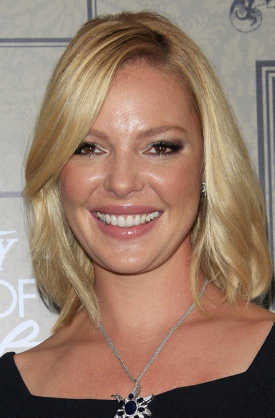 Katherine Heigl bob haircut with bangs