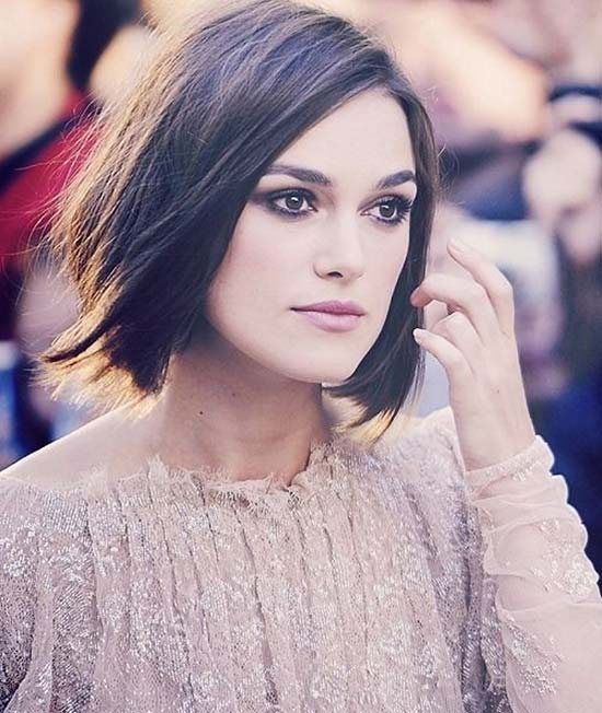 Keira Knightley Short Straight Hairstyles