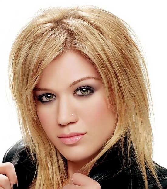 Kelly Clarksom medium length layered hairstyles