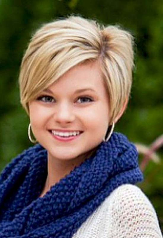 Kelly Clarkson Pixie Cut for Round Face