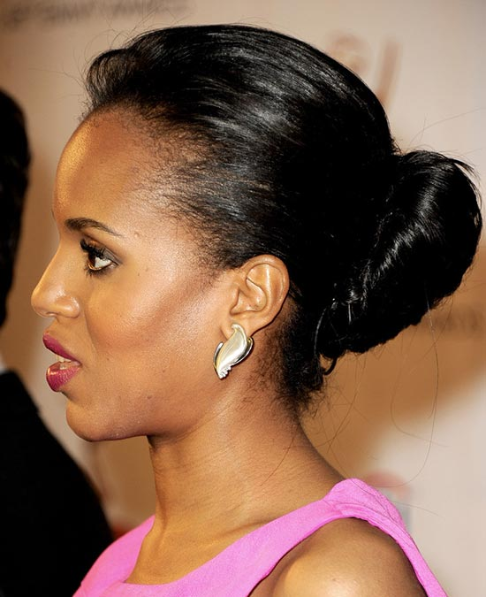 Kerry-Washington Updos for Short Hair