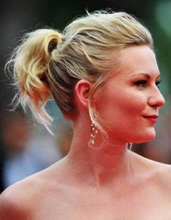 Kirsten Dunst Hair Wrapped Ponytail