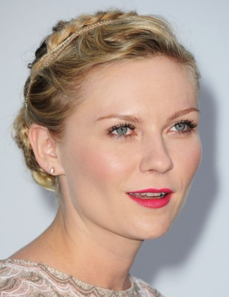 Kirsten Dunst Hairstyles Graceful Braided Bun