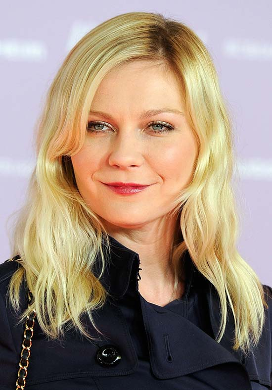Kirsten Dunst Long Side Part Hairstyle