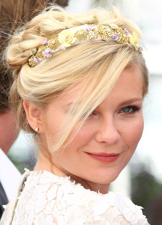 Kirsten Dunst Pinned Updo hairstyle