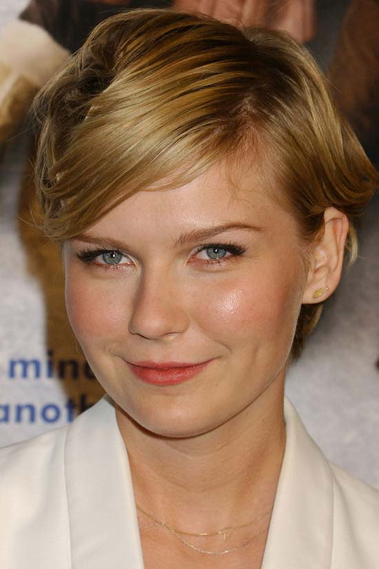 Kirsten Dunst with short hair