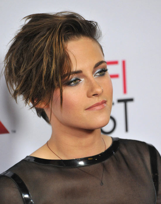 Kristen Stewart long pixie hairstyle