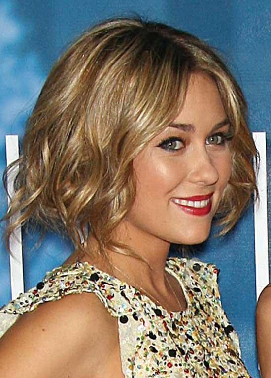 Lauren Conrad Wavy Bob Hairstyle