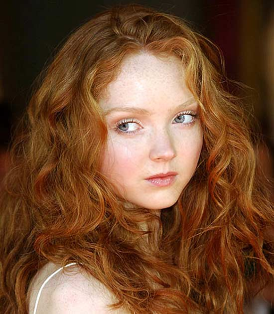Lily Cole long thick hair