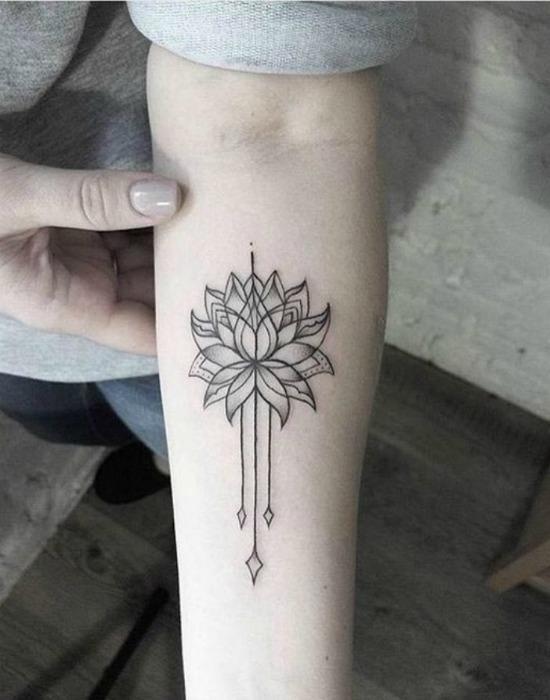 Lotus Flower Arm Tattoo Design