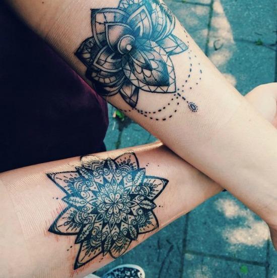 Mandala Tattoos on Arms