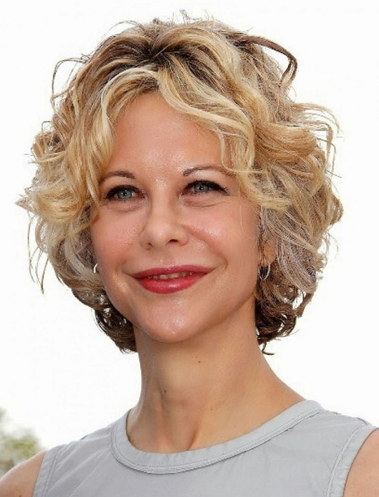 Meg Ryan Curly Short Hairstyles for Fine Hair