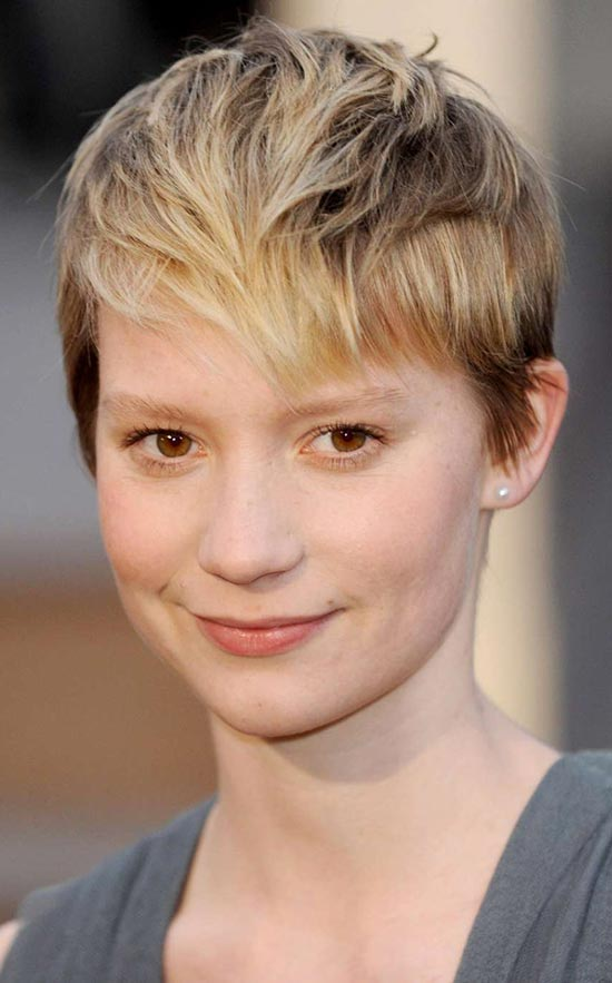 Mia Wasikowska Edgy Haircuts
