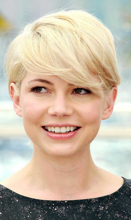 Michelle Williams Pixie Cut for Round Face