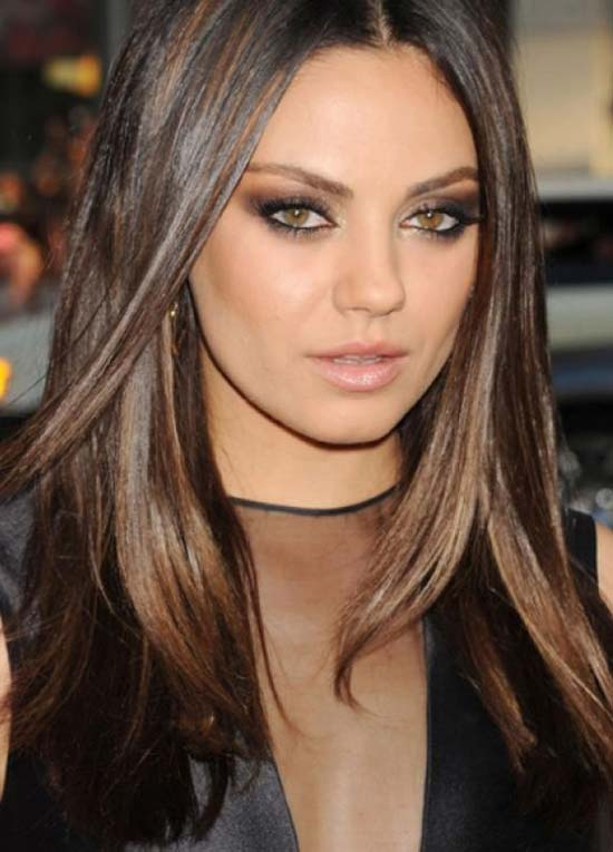 Mila Kunis Long Layered Hairstyles
