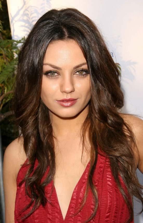 Mila Kunis wavy hair