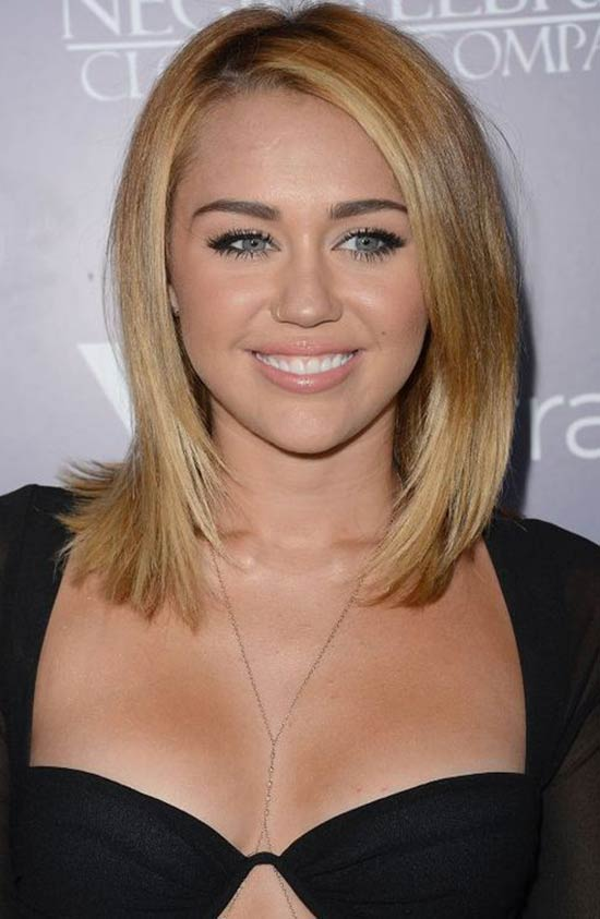 Miley Cyrus Blonde Bob Hair Style