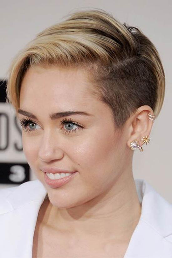 Miley Cyrus Edgy Hairstyle