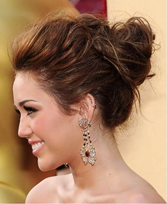 Miley Cyrus Updo Hairstyles