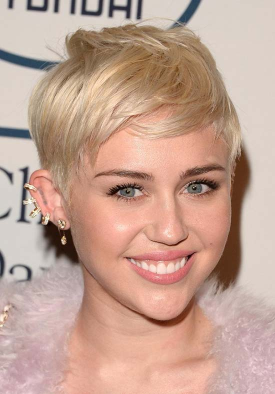 Miley Cyrus long Pixie Haircut
