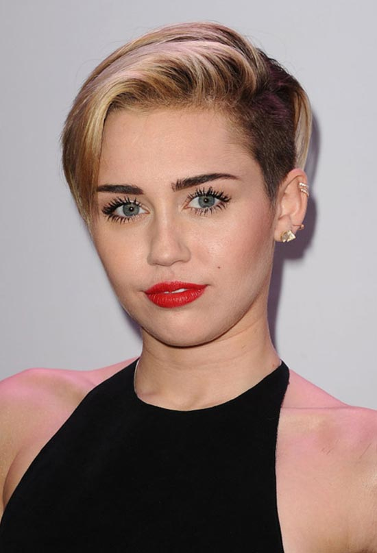 Miley Cyruss short Pixie Cut