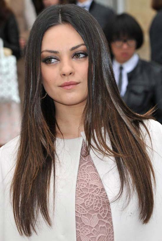 Milla Kunis Long Straight Hair