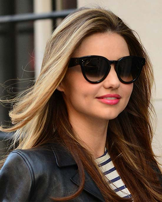 Miranda Kerr Long layers straigh hair